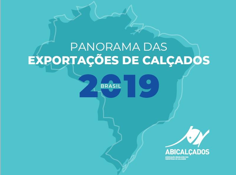 Capa do Panorama das Exportações de Calçados 2019